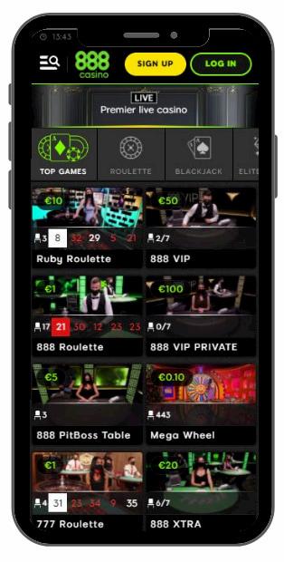 888 Casino Mobile Version