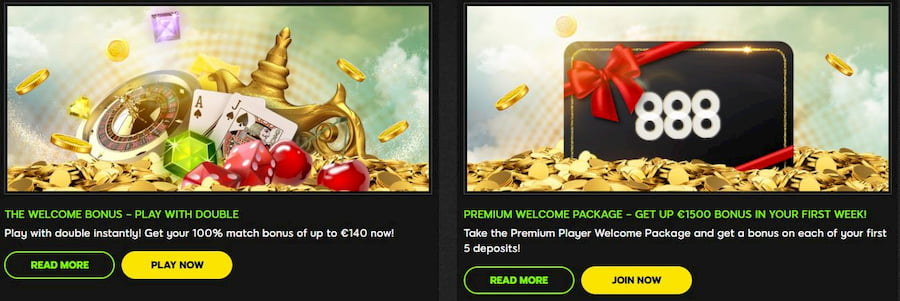 Bonuses and Promotions 888 Casino