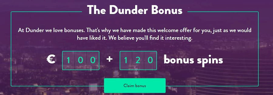 Bonuses and Promotions Dunder