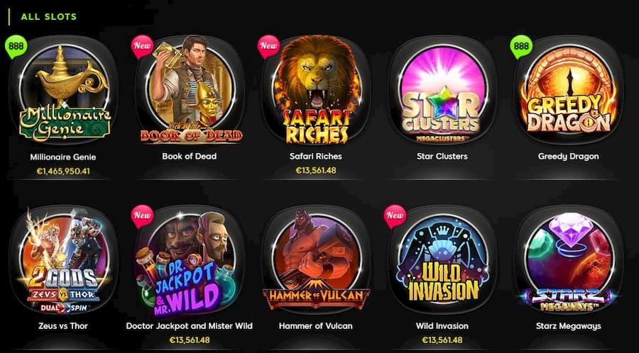 Games at 888 Casino