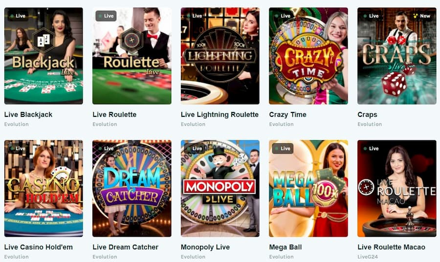 Games at Lucky Casino