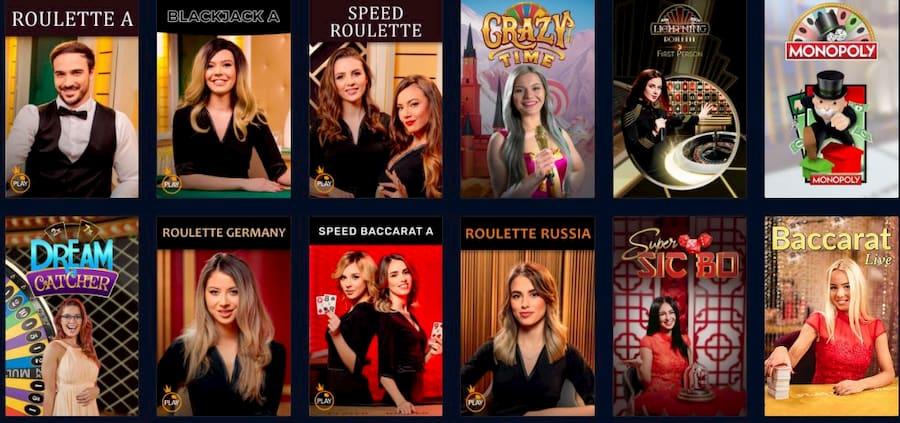 Games at Rabona Casino
