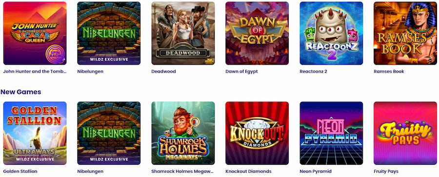 Games at Wildz Casino