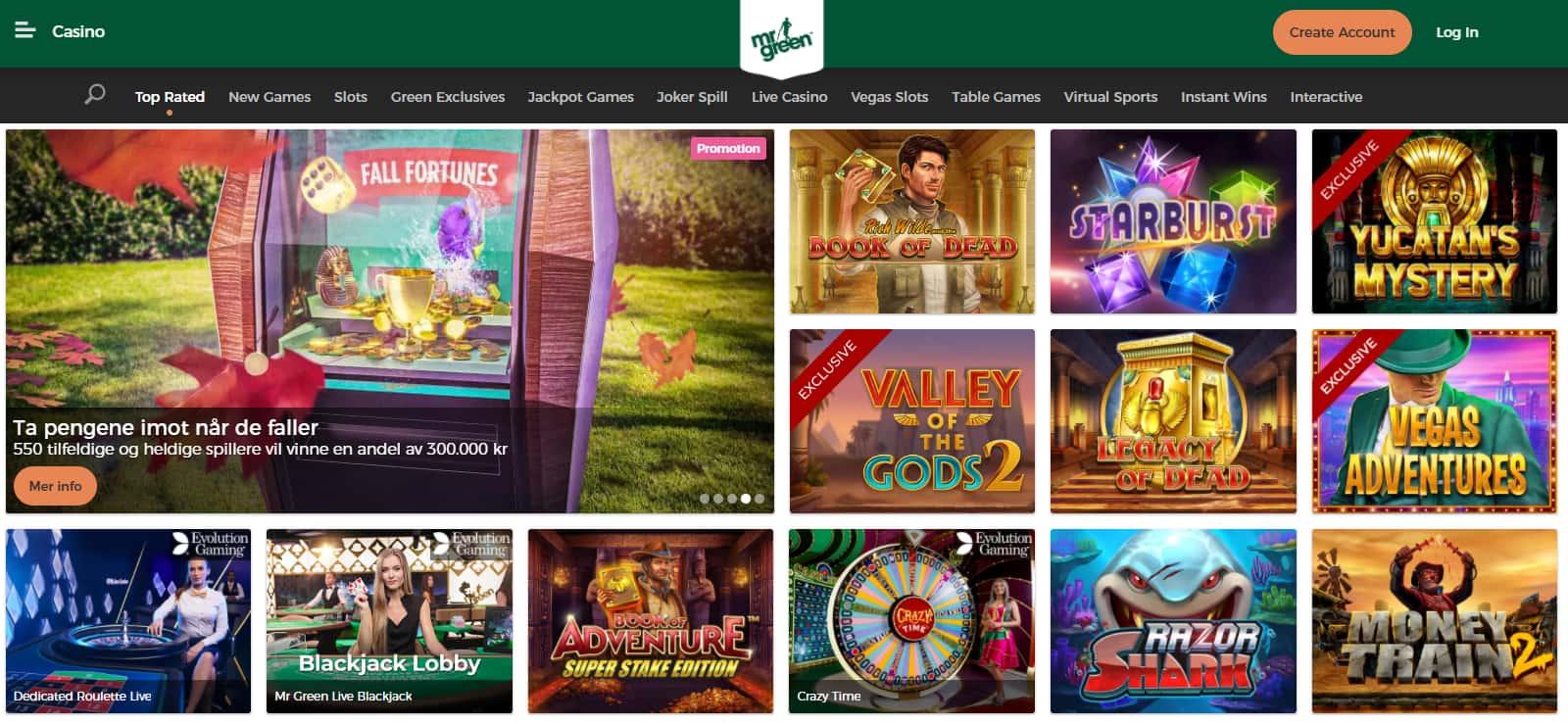 Mr Green Casino Promotions